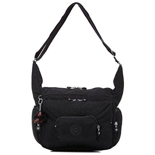 Kipling Women's Erica Solid Crossbody Bag, black t, One Size
