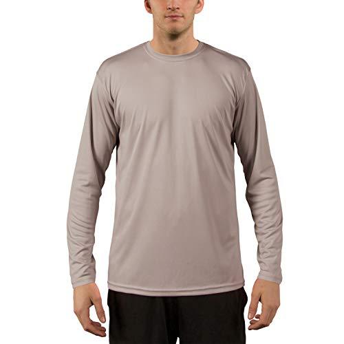 Vapor Apparel Men's UPF 50+ UV Sun Protection Outdoor Performance Long Sleeve T-Shirt Medium Athletic Grey
