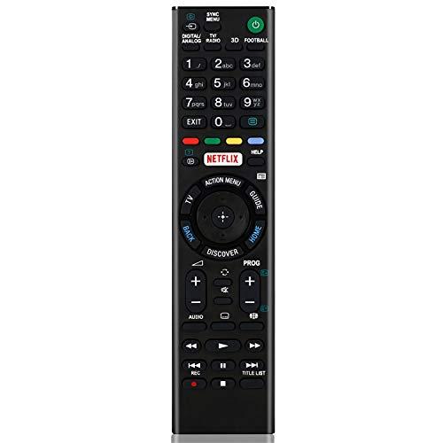 RMT-TX100D - Mando a Distancia de Repuesto para televisor Sony Smart TV Control Remoto para Sony LCD/LED TV (Botón Netflix) RMT-TX101J RMT-TX102U RMT-TX102D TV Control Remoto Universal