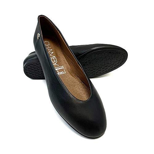 ZAPATISIMOS - Zapatos Planos Mujer Cómodos Bailarinas Manoletinas de Piel Tipo Merceditas
