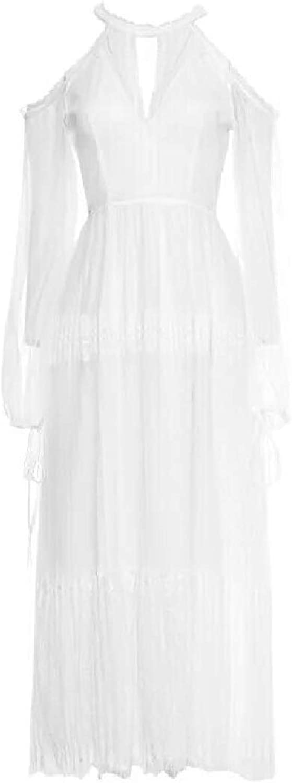 Tootca Womens Court Style Oversize Lace Premium Maxi Long Dress
