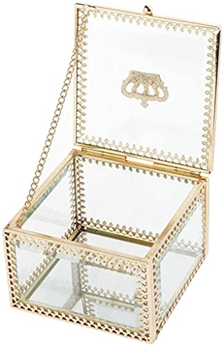 wangYUEQ Caja de joyería Organizador de joyería geométrica Soporte de Mesa 12.8 x 12.8 x 10 cm