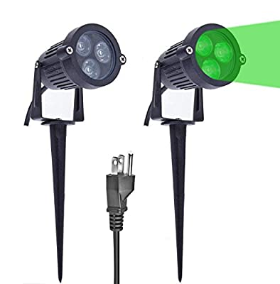 LemonBest Solar Spotlight Lawn Flood Light Outdoor Waterproof 7 LED Adjustable 7 Color in 1 Wall Lamp Landscape Light for Patio Wall Yard Garden, Pack of 2