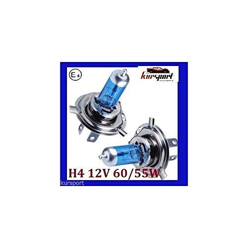 Bombillas/Lamparas H4 12V 60/55W halogenas luz blancal (2 unidades, marca Eagleye)
