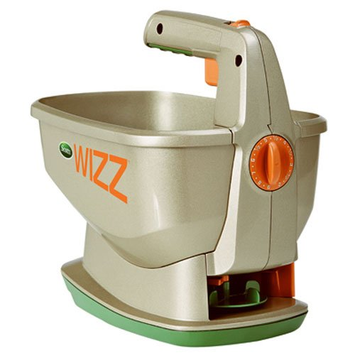 Scotts Wizz Hand-Held Spreader with EdgeGuard Technology - Apply Grass Seed, Fertilizer or...