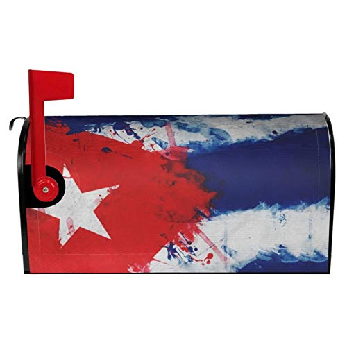 LQLDHJ Cuban Art Flag Magnetic Mailbox Cover Garden Yard Home Decor for Outdoor, 25.5x21 in