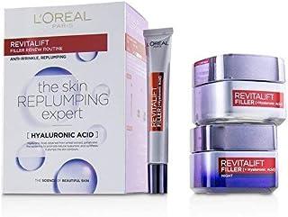 ロレアル Revitalift Filler Renew Routine Set: Day Cream 50ml/1.7oz + Night Cream 50ml/1.7oz + Eye Cream 15 ml/0.5oz 3pcs並行輸入品