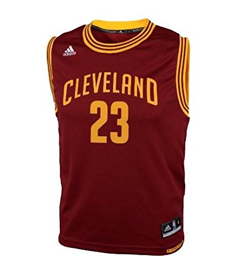 adidas Lebron James Cleveland Cavaliers Youth Bambini NBA Replica Jersey Maglia - Red