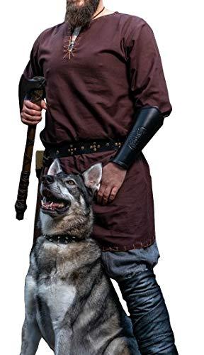 Leonardo Túnica vikinga con Bordado Erwin Marrón Oscuro M