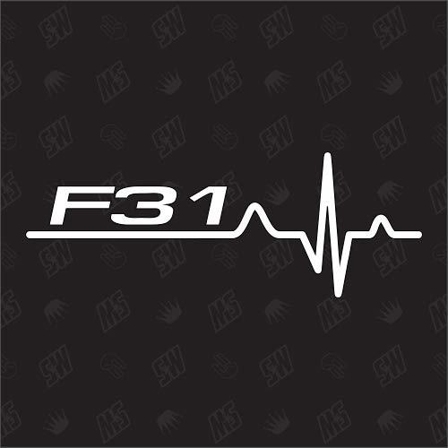 speedwerk-motorwear F31 Herzschlag - Sticker für BMW, Tuning Fan Aufkleber