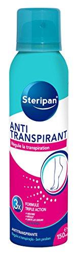 STERIPAN FOOTCARE - Steripan Spray Anti-transpirant – Régule Le Flux De Transpiration – Elimine Les Odeurs Corporelles – Efficacité 24 h - 150 ml