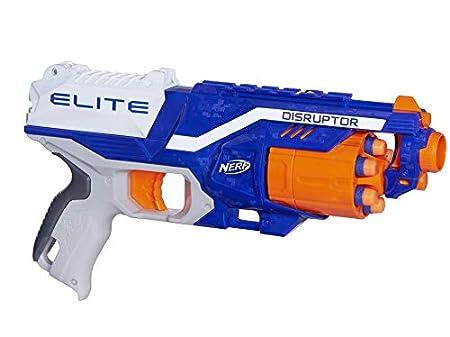 Hasbro - N-Strike Elite Disruptor Spielzeugblaster mit Trommelmagazin