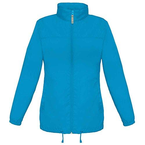 B&C & C Ladies Sirocco The Wind Breaker Showerproof Foldaway Coat, Atollo
