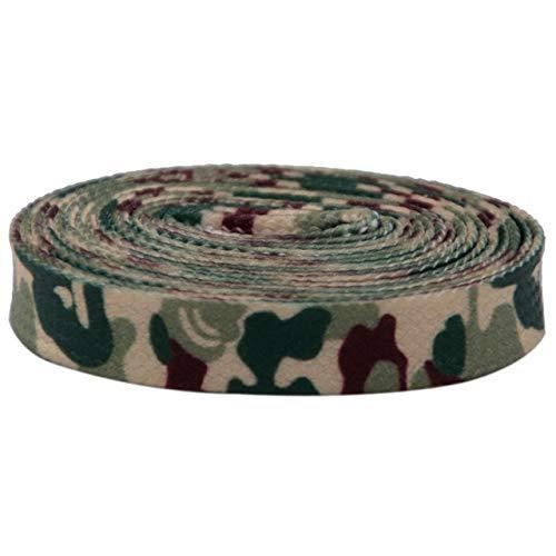 Cordones de impresión de transferencia de calor 7mm zapatos planos accesorios innovadores azul rojo verde camuflaje senderismo cordones