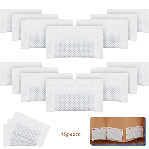 20 Pieces Curtain Weights Bottom Drapery Lead Weights Covered Drapery Weights Fabric Curtain Weights for Curtains, Tablecloth, Flags 15 g of Each (60 x 30 mm)