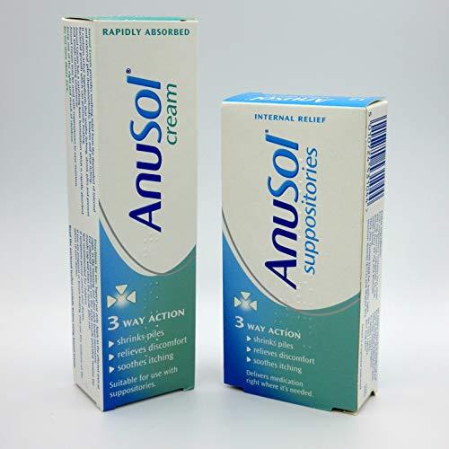 Anusol Haemorrhoids Piles Treatment - 12 Suppositories + 43g Cream