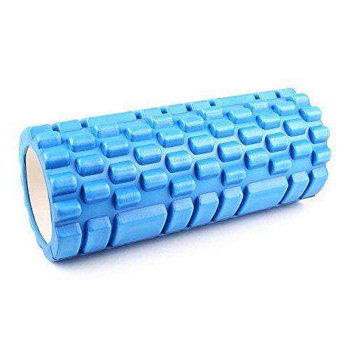 CapitalSports Yoyogi Rollo de Gimnasia (Cilindro de gomaespuma masajeador, 33.5cm, Ideal rehabilitación, liberar tensión, Ejercicio Masaje músculos, Rodillo Color Azul)