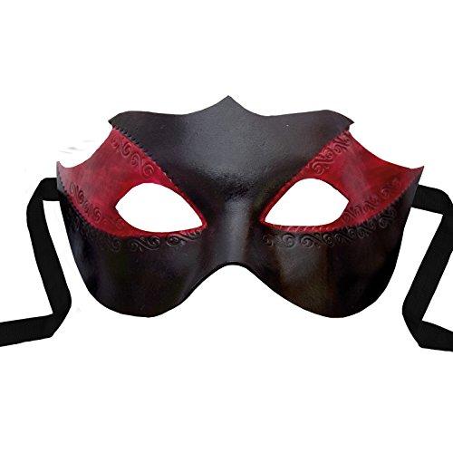 Venezianische Maske - Colombina Novella Venezianische Ledermaske