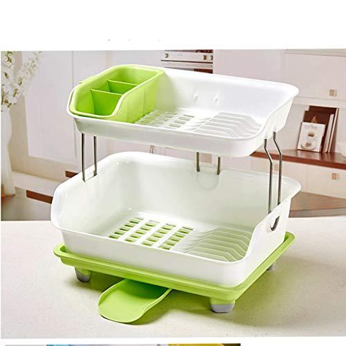 Haushalt Küche Lagerregal Essstäbchen Löffel Lagerung große Kapazität Multifunktionsablauf Rack grün/pink/blau YGDH (Color : A)
