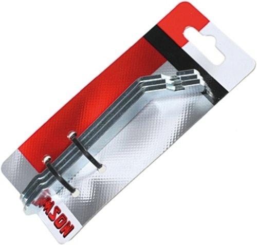 Simson-NL Spinder Design Bug Garderobe met metalen haken, 15 x 9 x 4,5 cm, 7 haken, zwart, zilver, medium