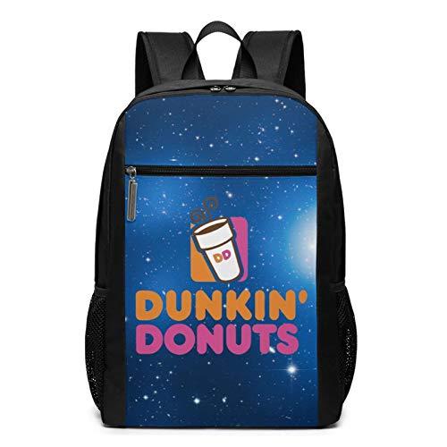 Hkafbop Dun-Kin Do-Nuts-Rucksack für Erwachsene, 43,2 cm (17 Zoll), für Reisen, Büchertasche, Schule, Wandern, Tagesrucksack