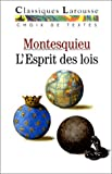 De l'esprit des lois (Choix de textes) by Montesquieu (1995-02-01) - Larousse - 01/02/1995