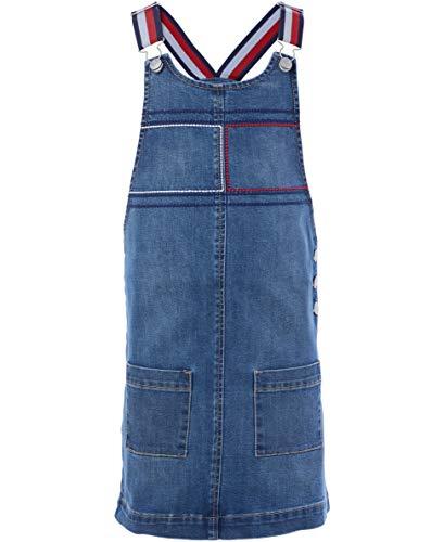 Tommy Hilfiger Toddler Girls' Denim Skirtall, Broadway Wash, 3T