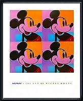 ポスター アンディ ウォーホル ミッキーマウス 1982 額装品 ウッドハイグレードフレーム(ネイビー)