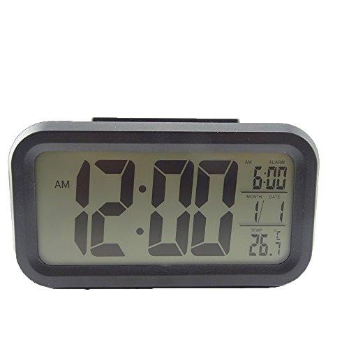 HONBAY Morning Clock,Low Light Sensor Technology,Soft Light That Won't Disturb The Sleep,Progressively Louder Wake Alarm Wake You Up Softly