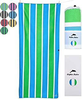 Microfiber Beach Towel: XXL (200x90cm ,78x35) Sand Free ,Huge ,Oversized ,Large In Designer Carry Pouch & Gift Box & Fast-Drying, Pool, Sports Blanket & Camping & Yoga