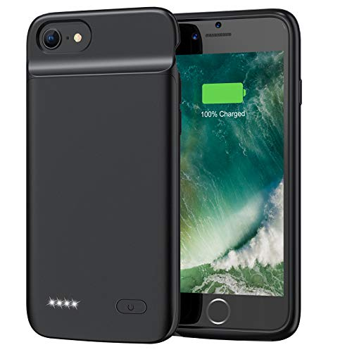 Battery Case for iPhone 8 7 6s 6 SE 2020(2nd Generation), 3200mAh Portable Rechargeable Protective Charging Case Extended Battery Pack Charger Case for iPhone 8 7 6s 6 & SE 2020 (4.7 inch) -Black