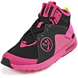 Zumba Women's Air Classic Athletic Dance Workout Shoes with Max Impact Protection Sneaker, Black/Pink, 10