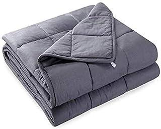 ウェイトブランケット 加重ブランケット6.8kg 123×183 cm(体重55〜100kgに適しています) 重い 布団 加重ブランケット 加重毛布 重い ブランケット 毛布 加重 深い睡眠 掛き布団 増量タイプ 圧力ブランケット 不眠症対策 ストレスを吹き飛ばせ アメリカで 快眠 快適な睡眠環境をづくる (123x183cm 6.8kg)