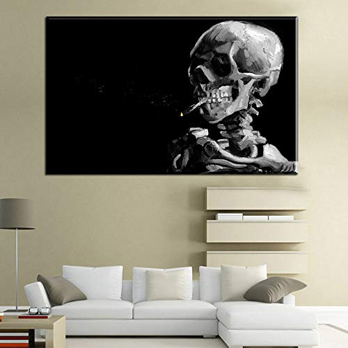 HGlSG Roken Olieverf Fallout abstract portret canvas schilderij Vincent van Gogh Wall Art Decor Canvas Kamer Cuadros Decoratie A4 70X100cm