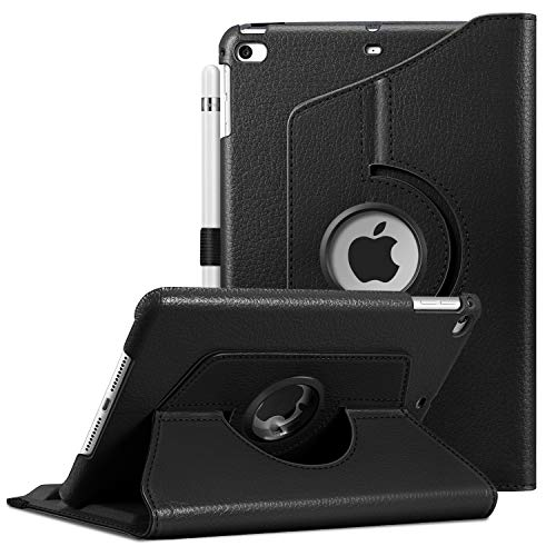 Fintie Rotating Case for iPad Mini 4-360 Degree Rotating Stand Case with Smart Cover Auto Sleep/Wake Feature for iPad Mini 4 (2015 Release), Black