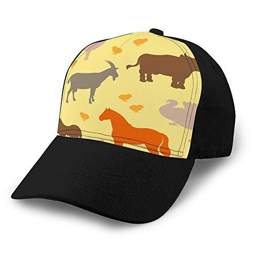 1240 Gorras de béisbol Sombreros de Vaquero Sombreros de Sol sin patrón con Animales de Granja Gorra de béisbol de Mezclilla Personalizada