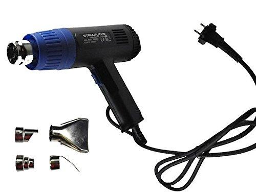 STAHLFUCHS Heißluftpistole 2000 Watt 2 Stufen 400°C - 600°C + 4 tlg. Zubehör Heißluftfön Heißluftföhn Heißluftgebläse Heißluft Fön Föhn Gebläse