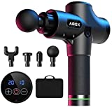 Massage Gun, ABOX Professional Deep Tissue Portable Massager with 20 Speed Levels, Max 3300 RPM Percussion Massage Gun with Super Quiet Motor for Athletes,Gym, Office, Home Post-Workout Pain Relief