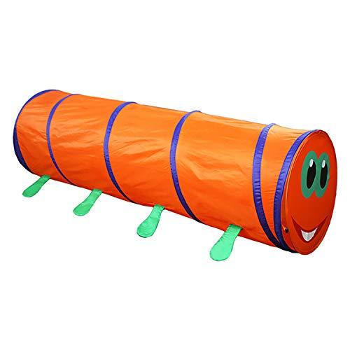 ACOC Gatear a Través del Túnel Pops up Play Carpa Caterpillar Toy Playhouse de Interior para Bebés Y Niños Pequeños Regalo de Cumpleaños Presente Carpa de túnel de rastreo Peludo Naranja para
