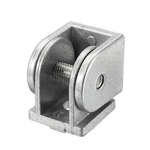 FYYONG 2pcs de estar bisagra 180 ° Ángulo Muebles Conector for Perfil de aluminio de la serie