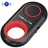 [Upgraded] Bluetooth Remote Shutter for iPhone & Android Camera Control Selfie Button for iPad iPod Tablet, HD Selfie Clicker for Photos & Videos (Red)