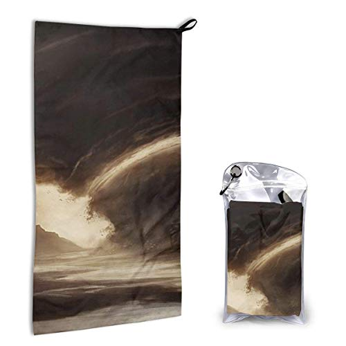 Sunny R Schnelltrocknende Handtücher Terrible Tornado Super Absorbent Beach Towel Leichtes Reisetuch für Camping Wandersportarten 15,7 x 31,5 Zoll