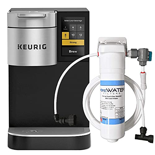 Keurig K2500 Plumbed Single Serve Commercial Coffee Maker and Tea Brewer with Direct Water Line Plumb and Filter Kit
