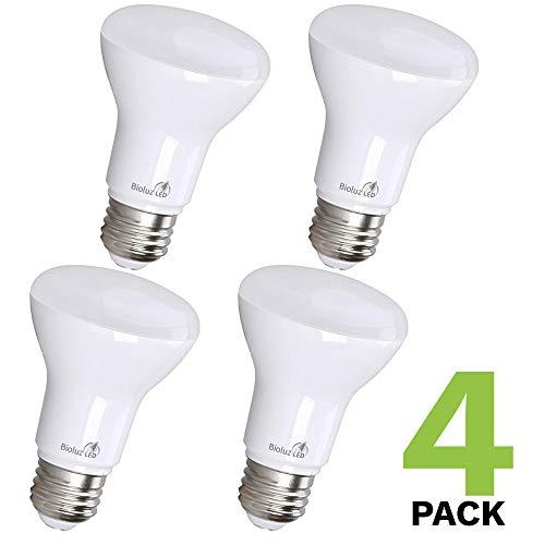 Bioluz LED Lights BR20 R20 Dimmable LED Light Bulbs 4 Pack - Flood Light Bulbs Indoor/Outdoor 7W=50W 550 Lumen E26 LED Bulb Replacement for Halogen Bulb - 2700K LED Bulb LED Flood Light Bulbs Indoor