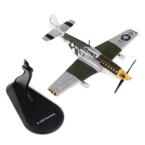 SM SunniMix WWII Nos Aviones 1/72 P51-b Avión De Combate Modelo De Ej