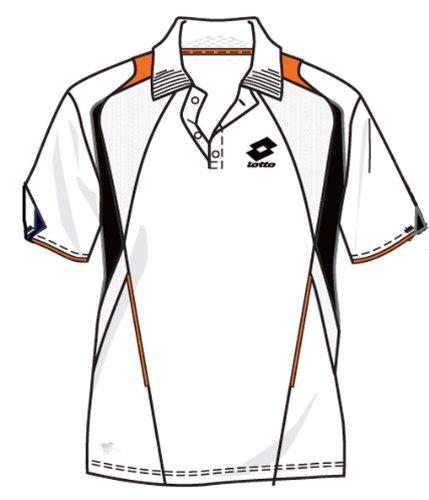 Lotto Polo Epic Blanc/Samba pour Homme Taille : Large