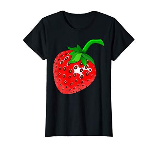 Mujer Disfraz de fresa divertido disfraz de fresa de Mardi Gras Camiseta