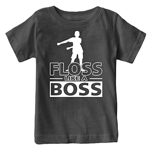 Kids Floss Like a Boss Flossin Dance Youth T Shirt (Charcoal)
