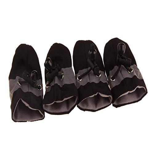 HXKJ Zapatos para Mascotas cálidosAntideslizantes Impermeables Verano Invierno Calcetines Suaves York Chihuahua Perros Botas Gato Calcetines Cuidado de Las Patas de Las Mascotas