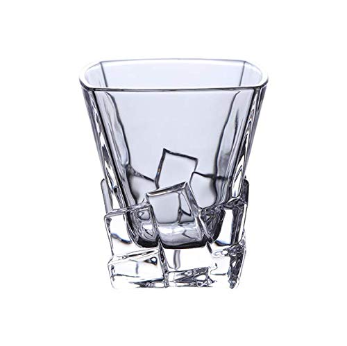 FEJK Schaukelkristallbier-Schalen-bleifreies Glasschnaps-Bar-Wein-Alkohol-Teetasse-quadratische Schalen-Gläser